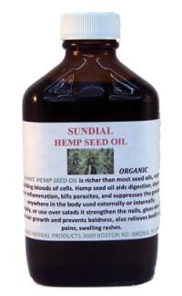 Sundial Organic Hemp Seed Oil